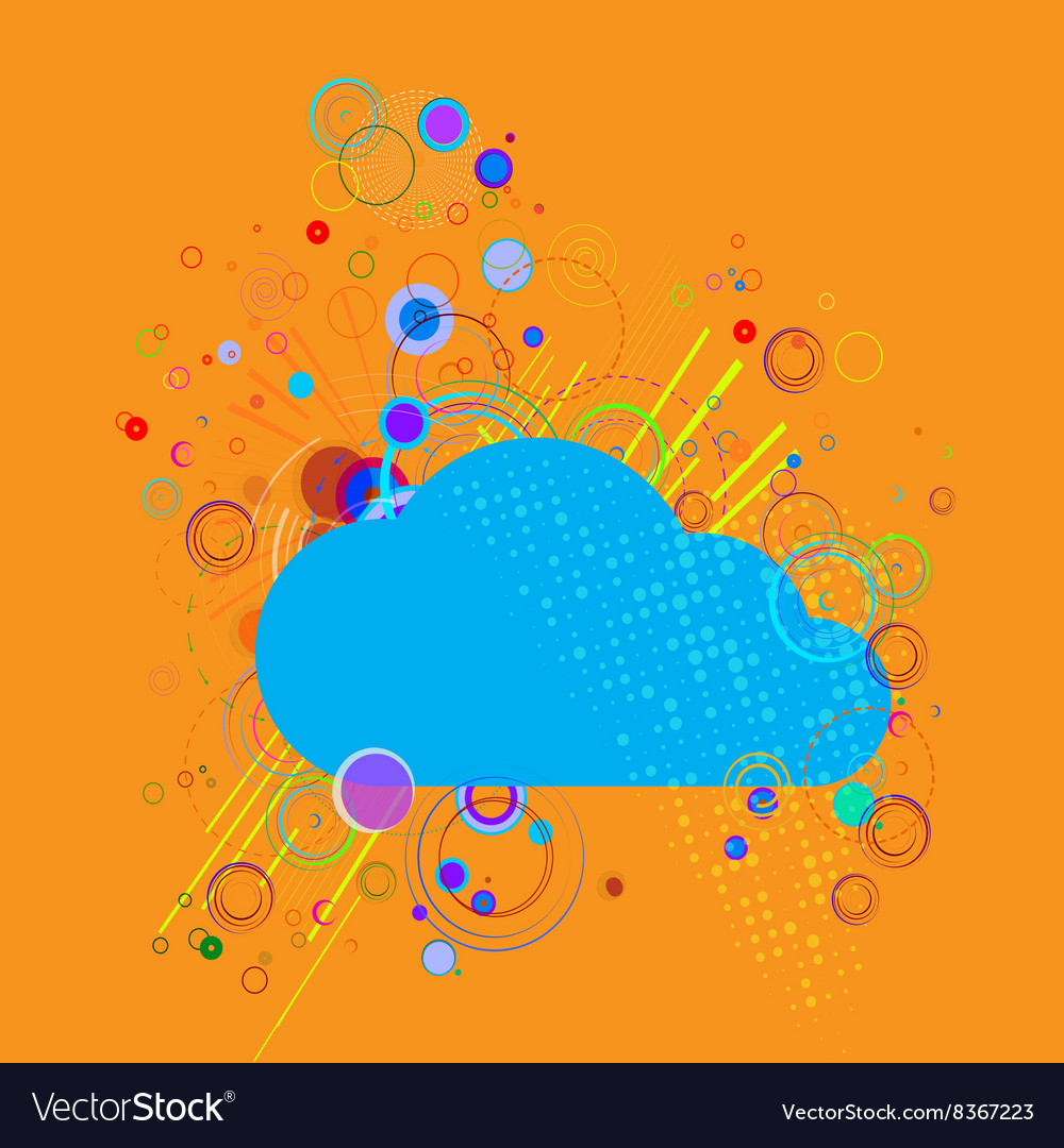 Cloud on abstract background