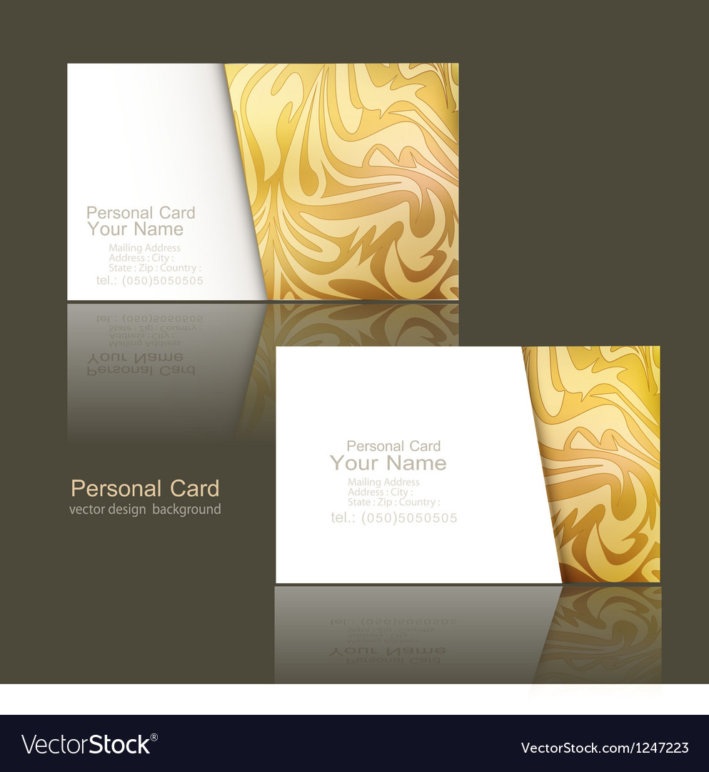 Design elements of the business business cards
