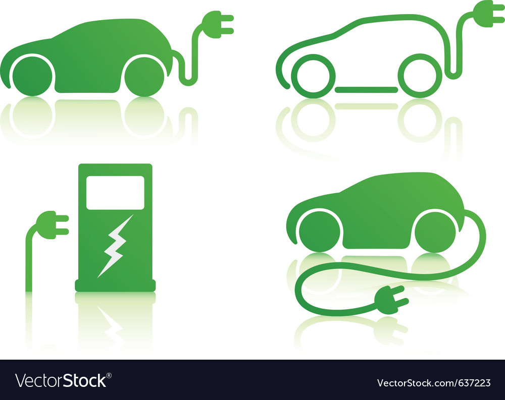 Electric powered car vector image
