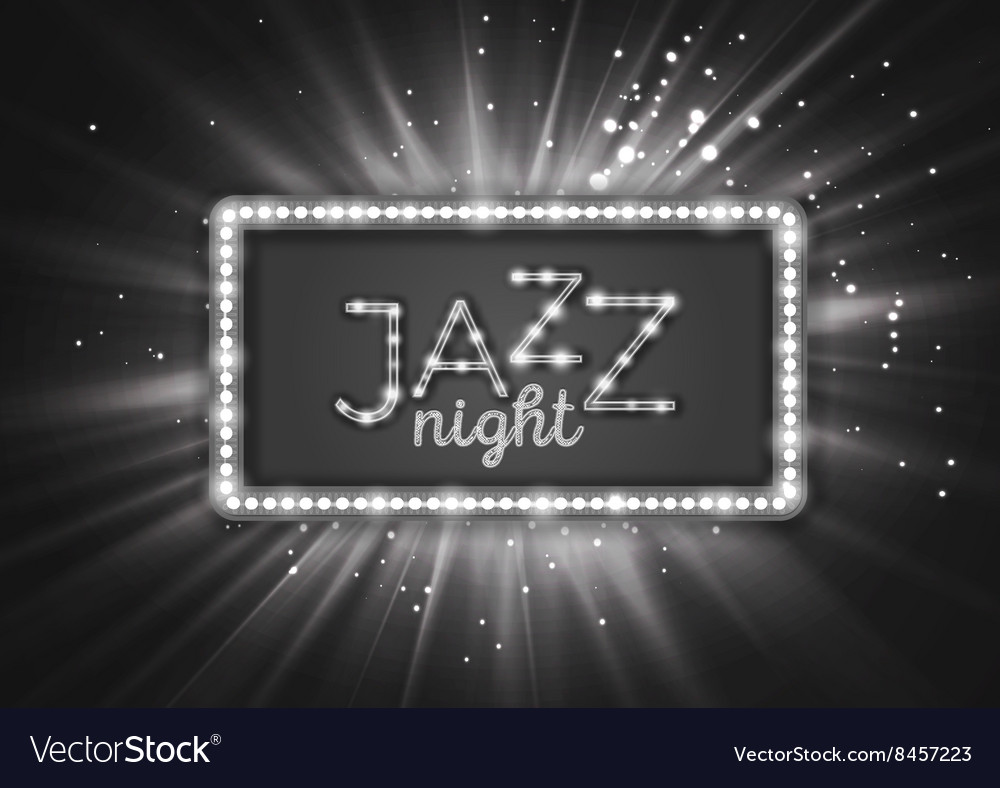 Jazz blues music poster flyer template