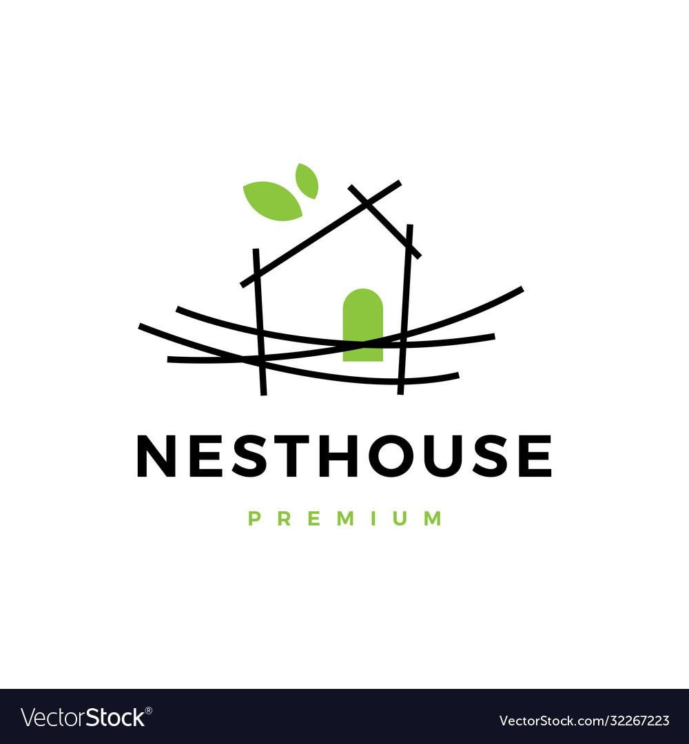 Nest house logo icon