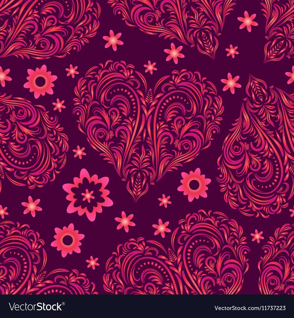 Seamless Pattern Valentine Hearts