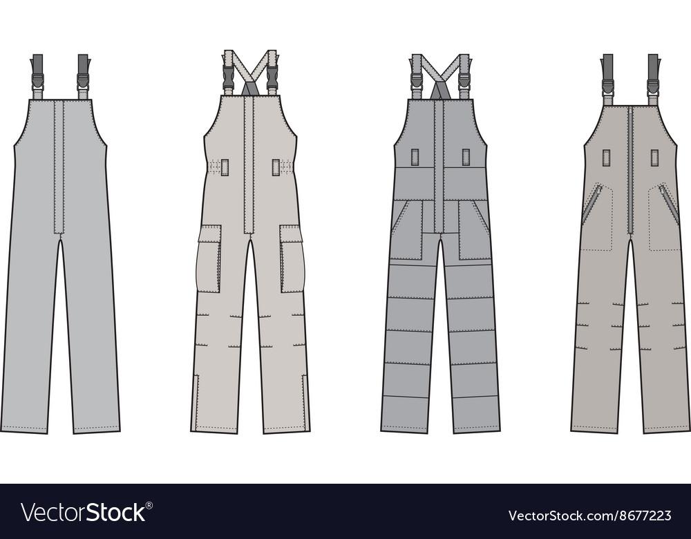 Work overalls set