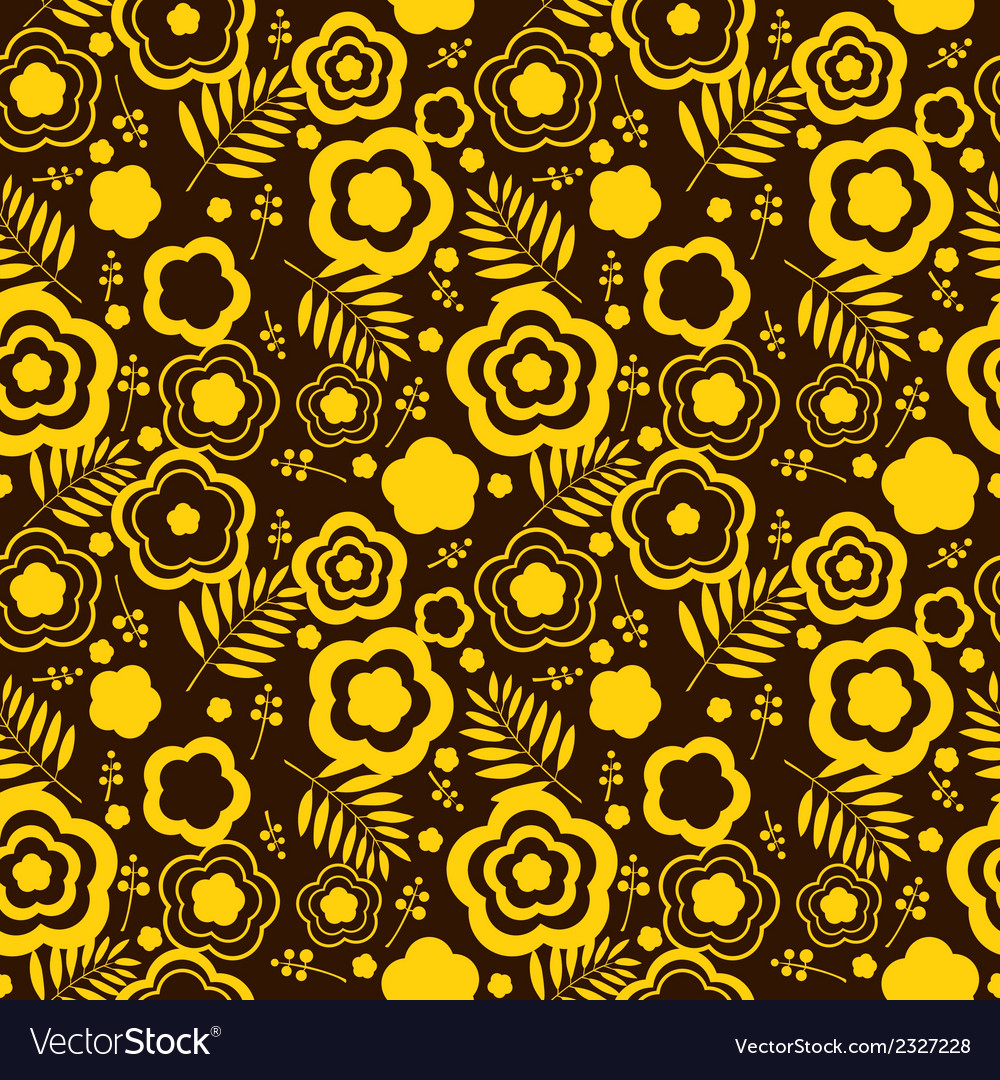 Beauty seamless pattern with yellow flowers vector image