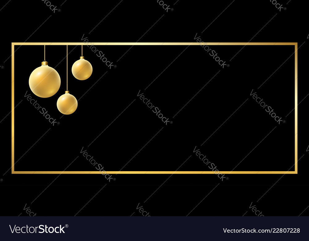 Christmas ball gold background