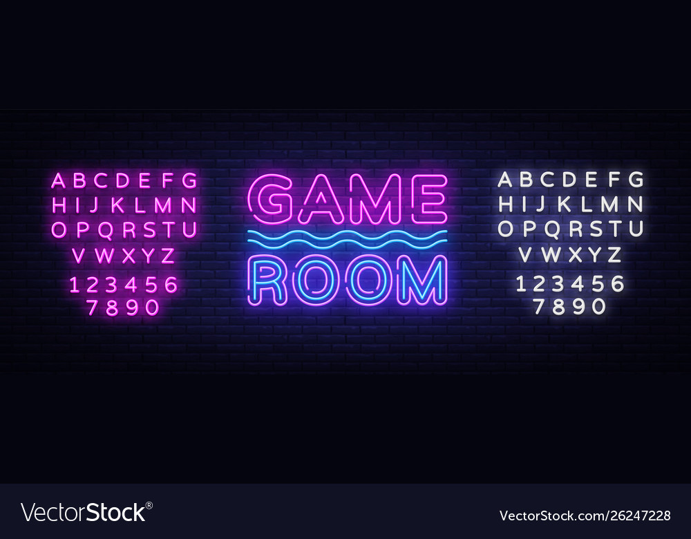 Game room neon text gaming neon sign