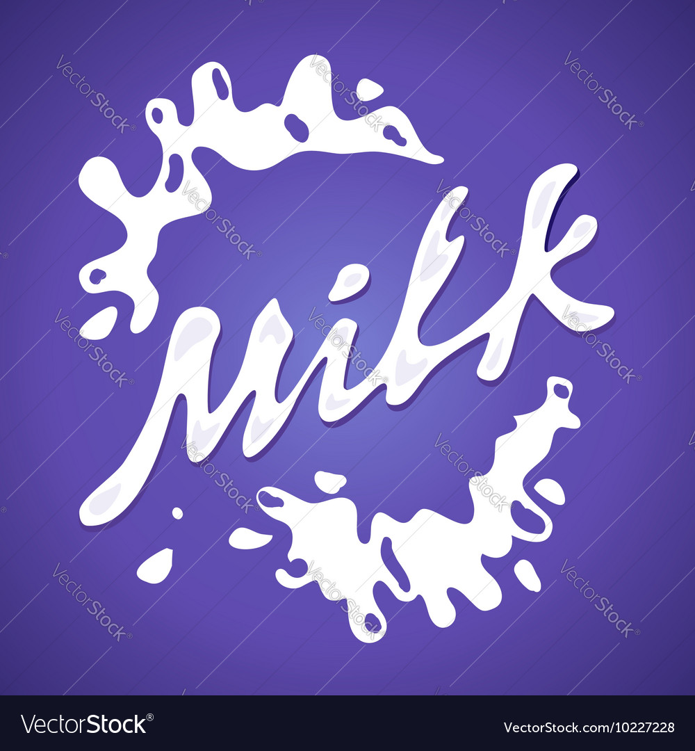 Milk label Splash and blot design shape vector image