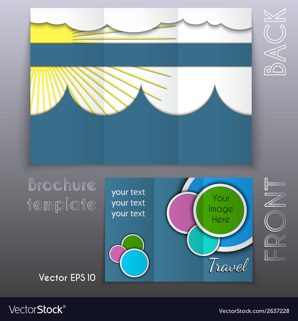 Trifold business brochure template design vector image