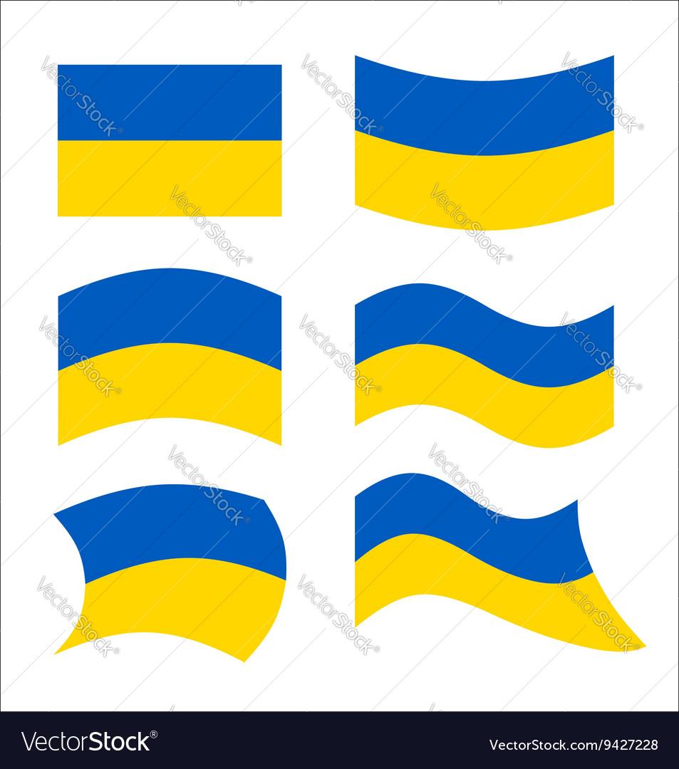 Ukraine flag Set flags Ukrainian republic in
