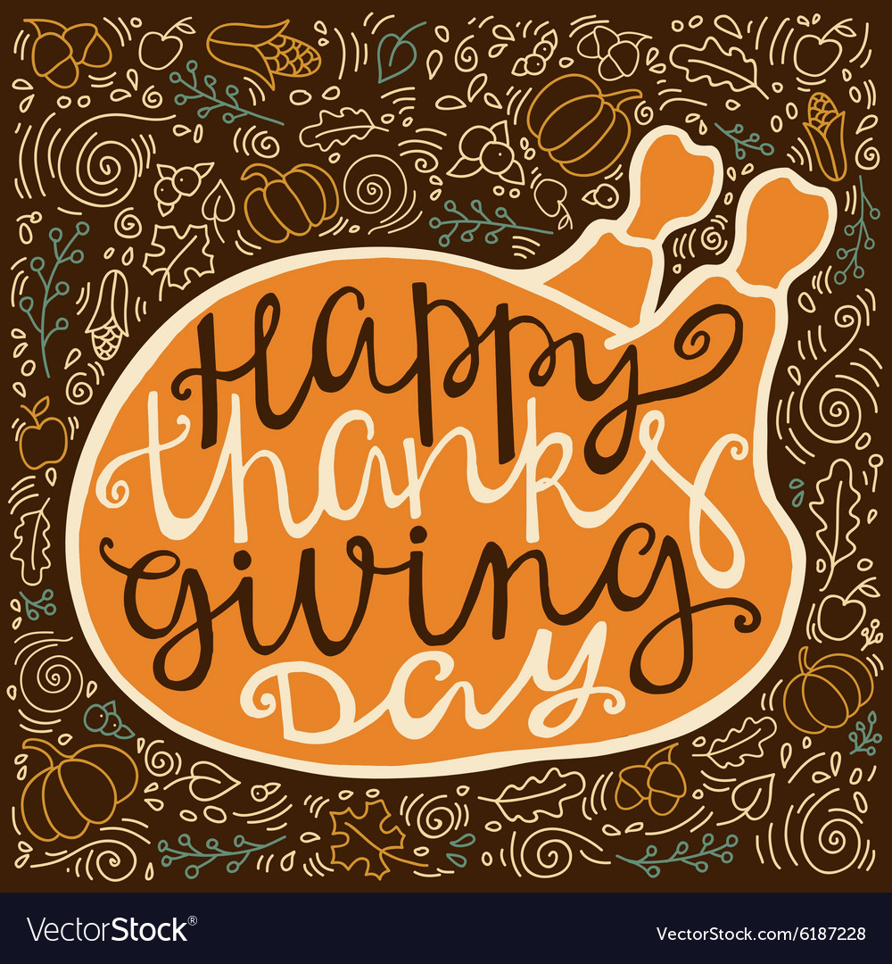 Vintage poster for thanksgiving