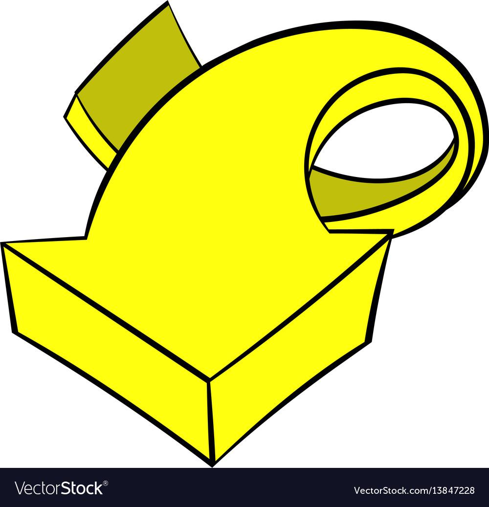 Yellow spiral arrow icon icon cartoon
