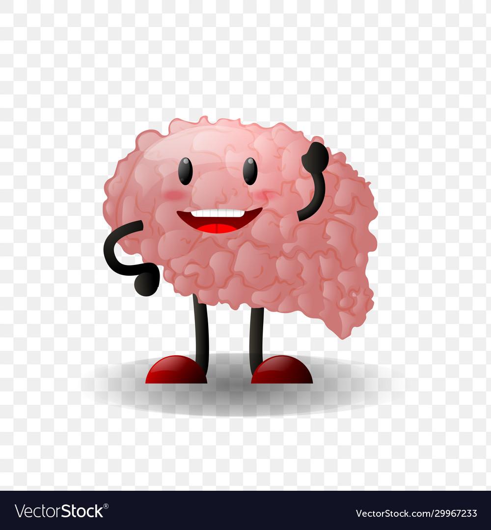 Brain human internal organ realistic