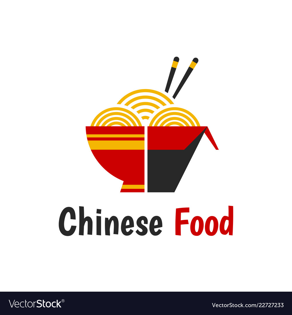 Chinese food isolated flat cartoon