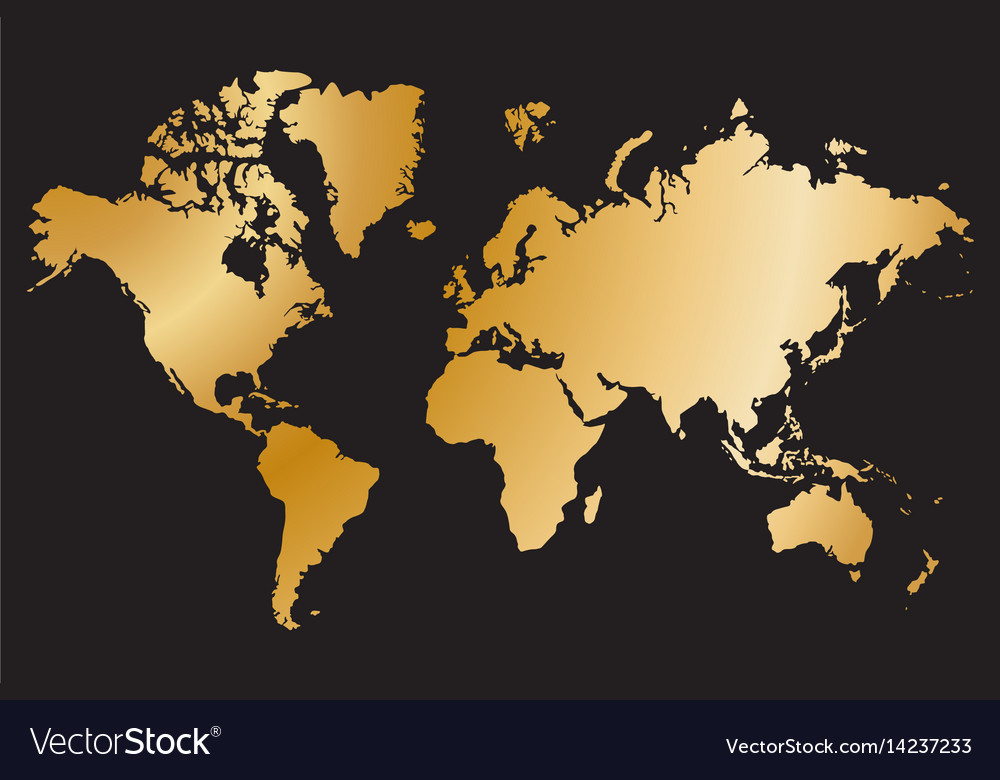 Political world map isolated on black background vector image gumiabroncs Images