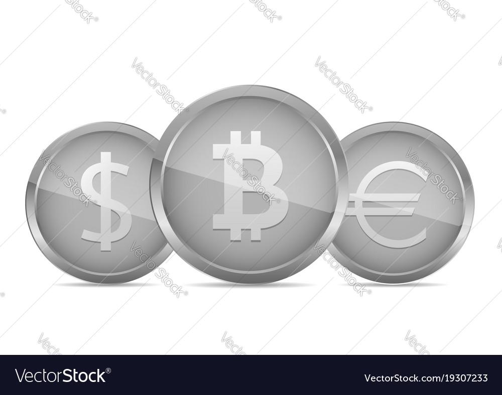 Silver money coin