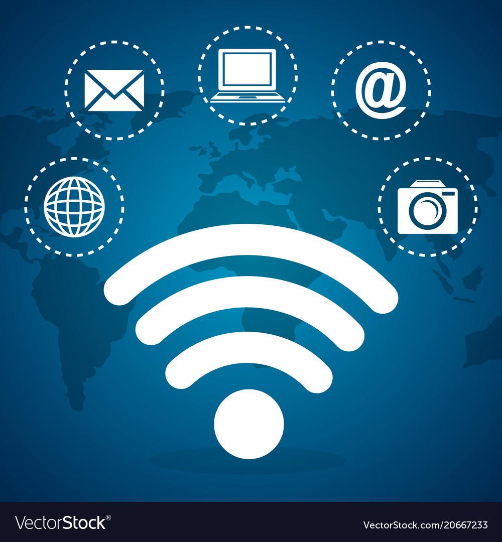 Social network set icons