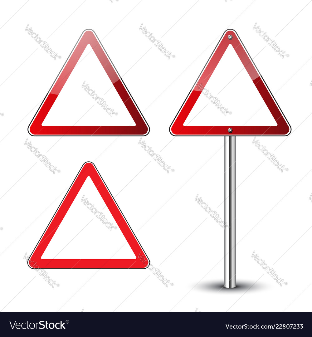 Triangle Road Signs >> Triangle Road Signs Set Royalty Free Vector Image