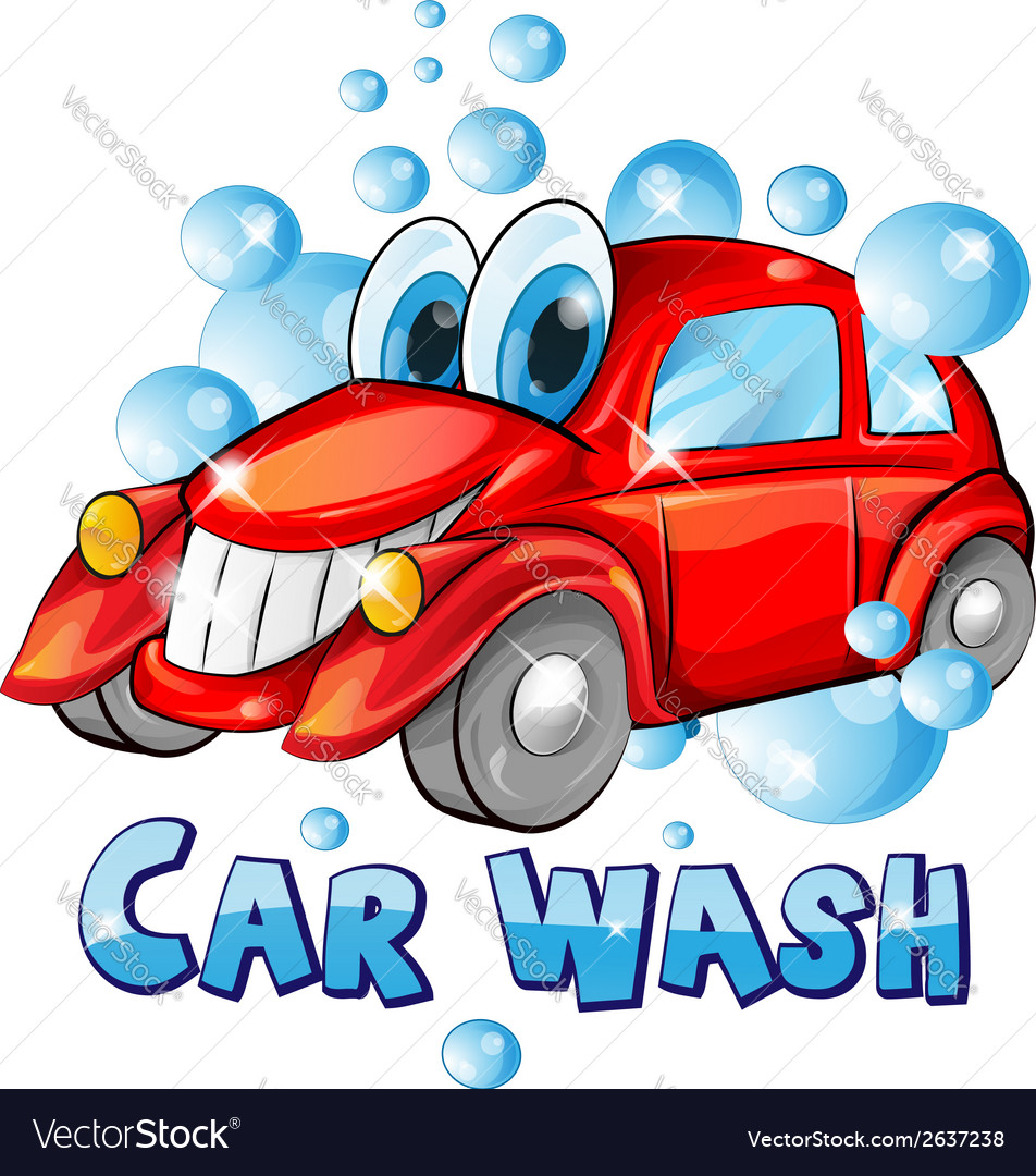 car wash cartoon royalty free vector image vectorstock rh vectorstock com car wash cartoon pictures free car wash cartoon pictures