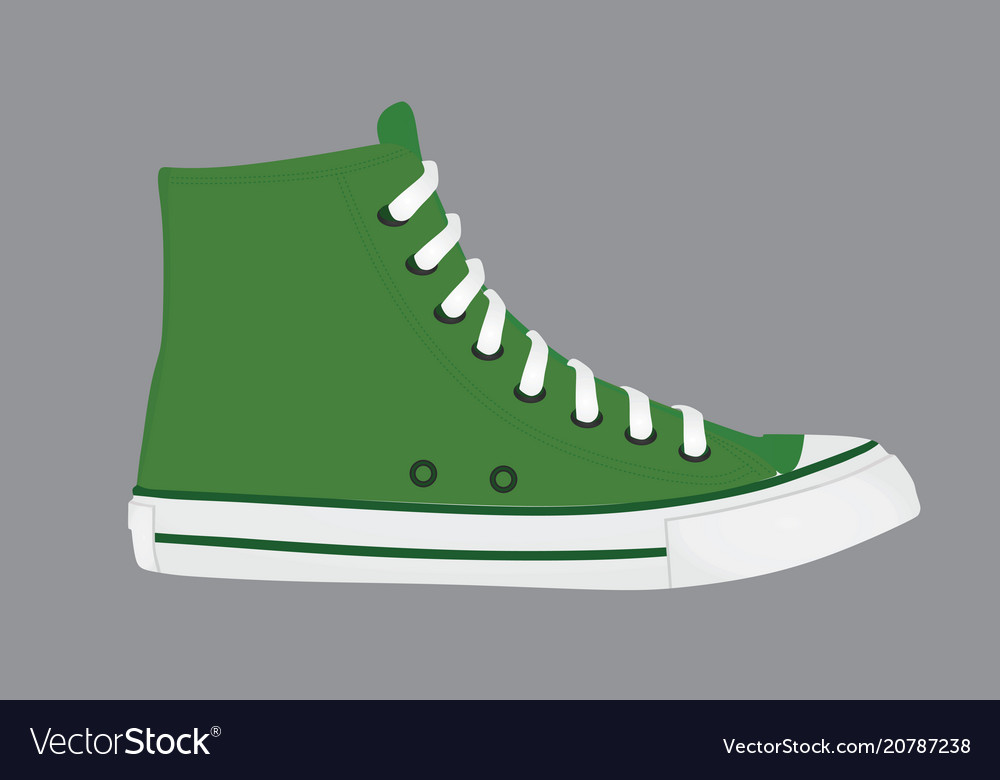 long canvas shoes Royalty Free Vector Image