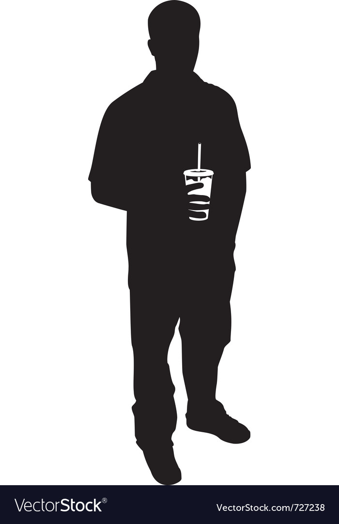 Guy with soda silhouette