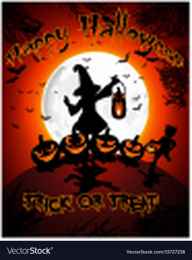 Halloween on full moon background