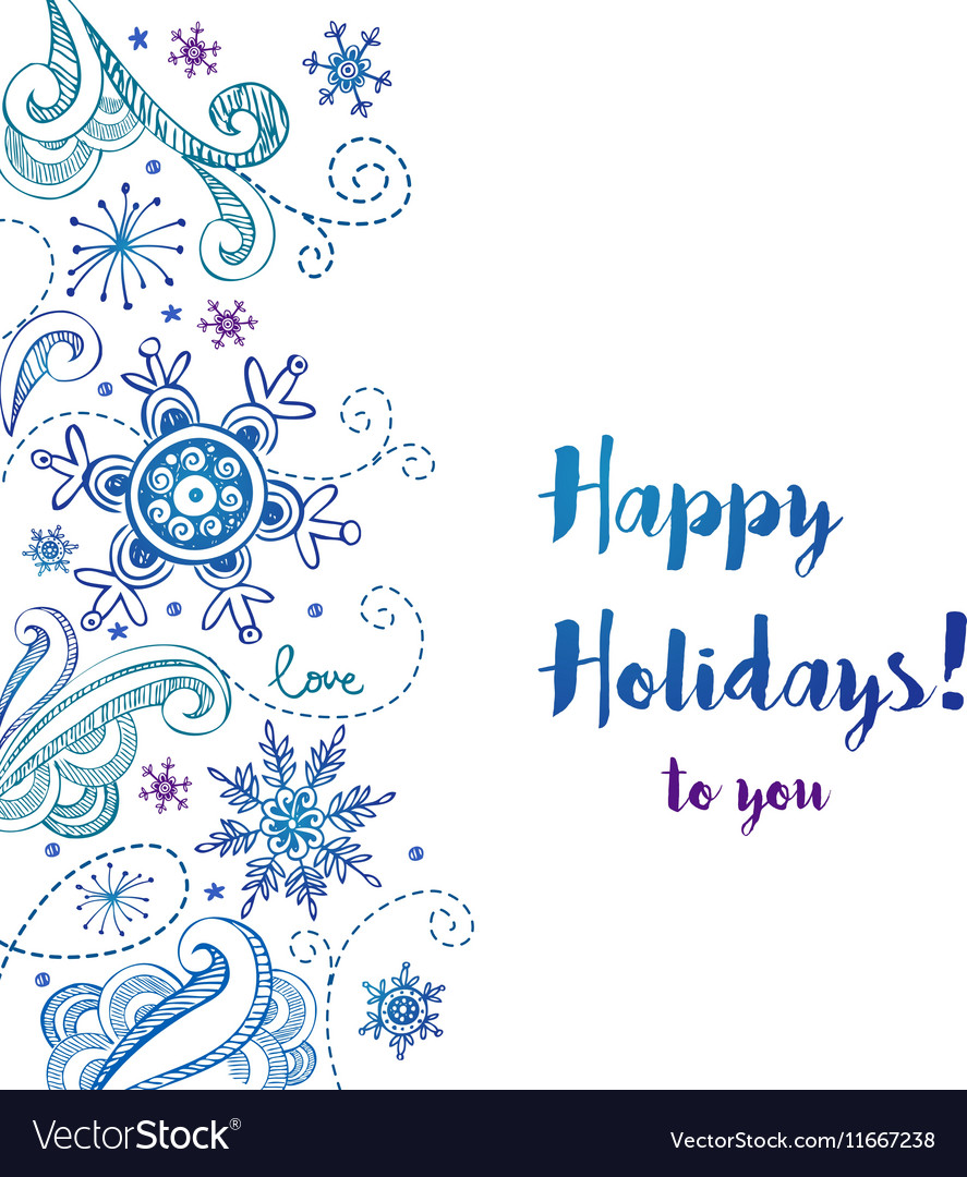 Happy Holidays Greeting Card Royalty Free Vector Image