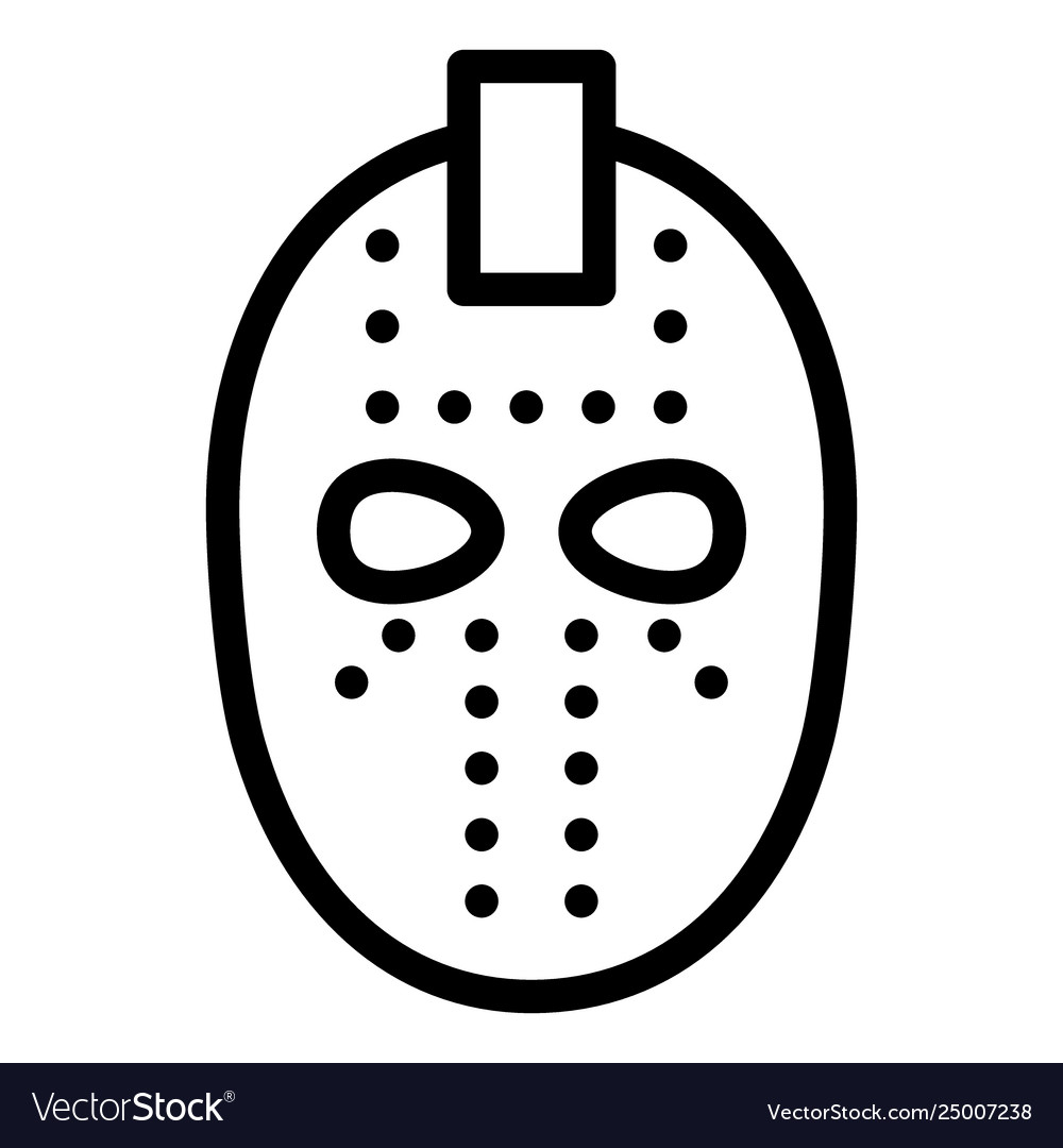Hockey Mask Line Icon Goalie Mask Royalty Free Vector Image
