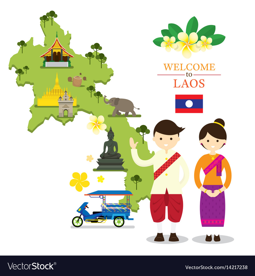 Lao & Temple Vector Images (44)