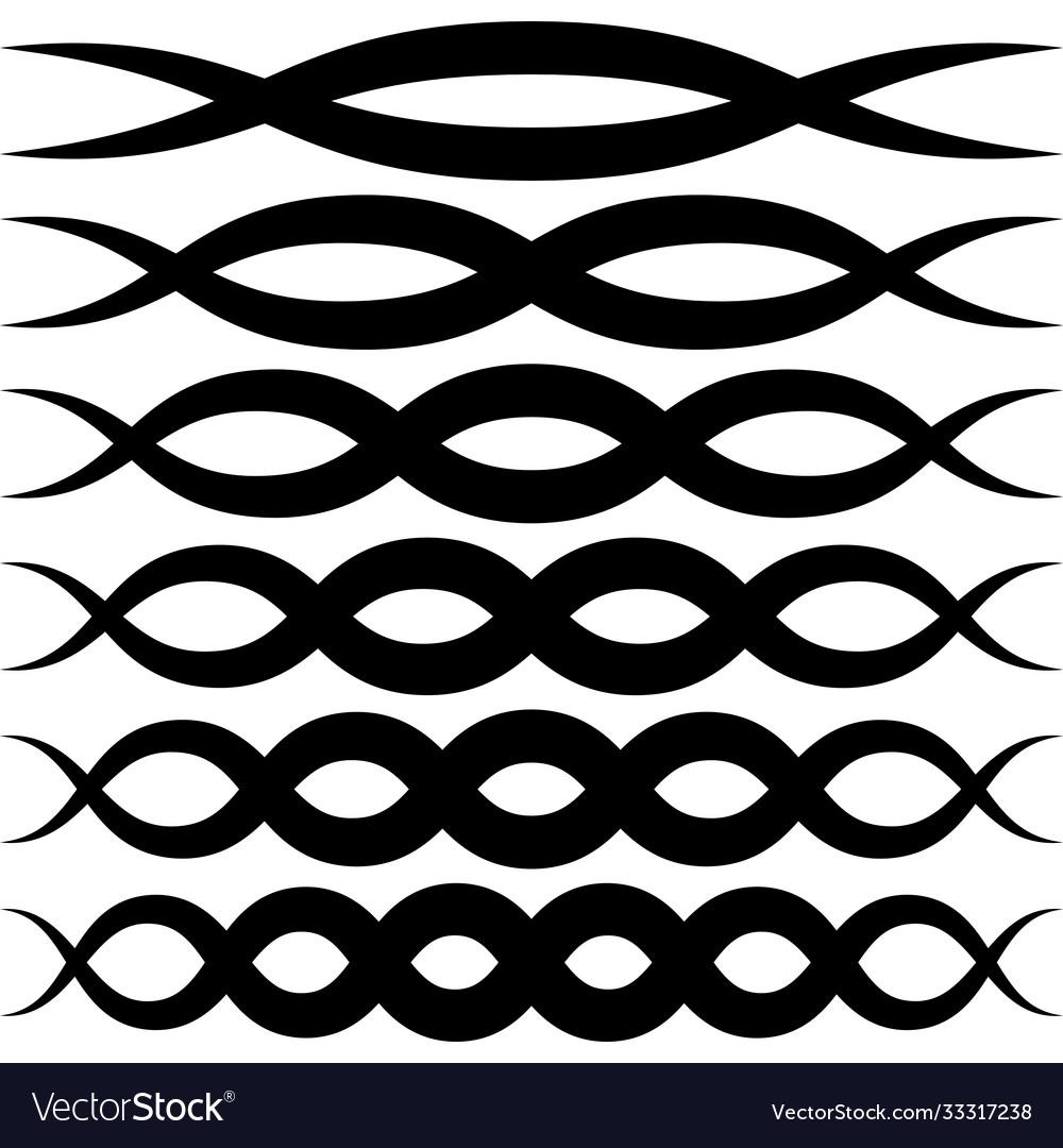 Set wave patterns for decoration wave