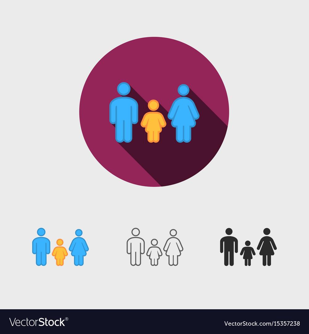 Silhouette family family icon