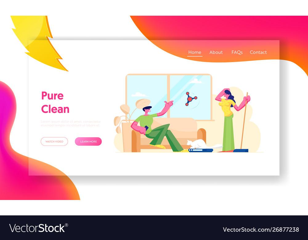 Smart technologies in human life website landing