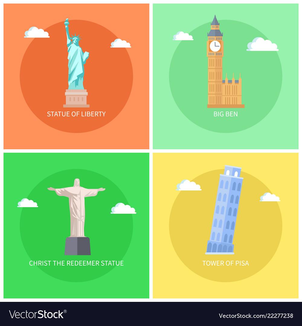 Statue of liberty and big ben