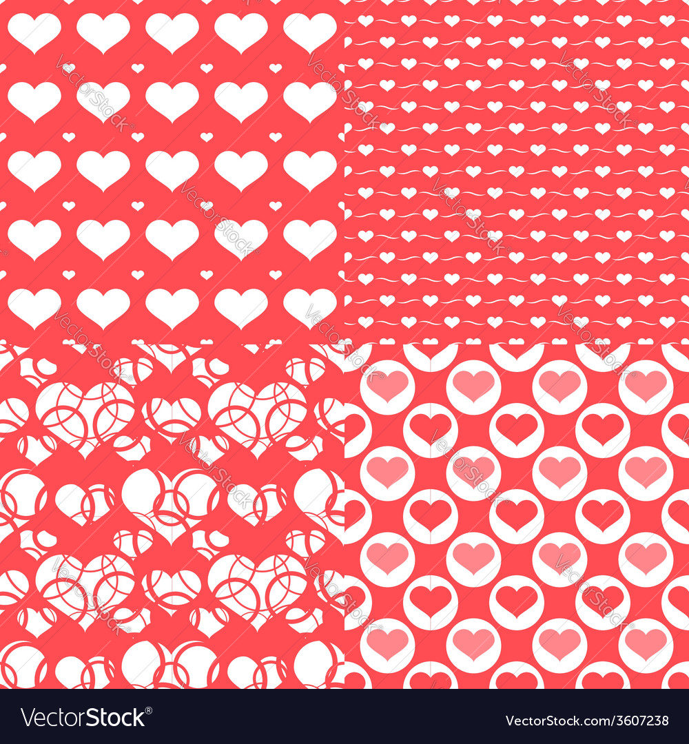 Valentine hearts seamless pattern Abstract backgr