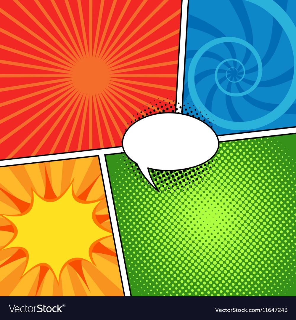 Comic magazine background set with speech bubbles