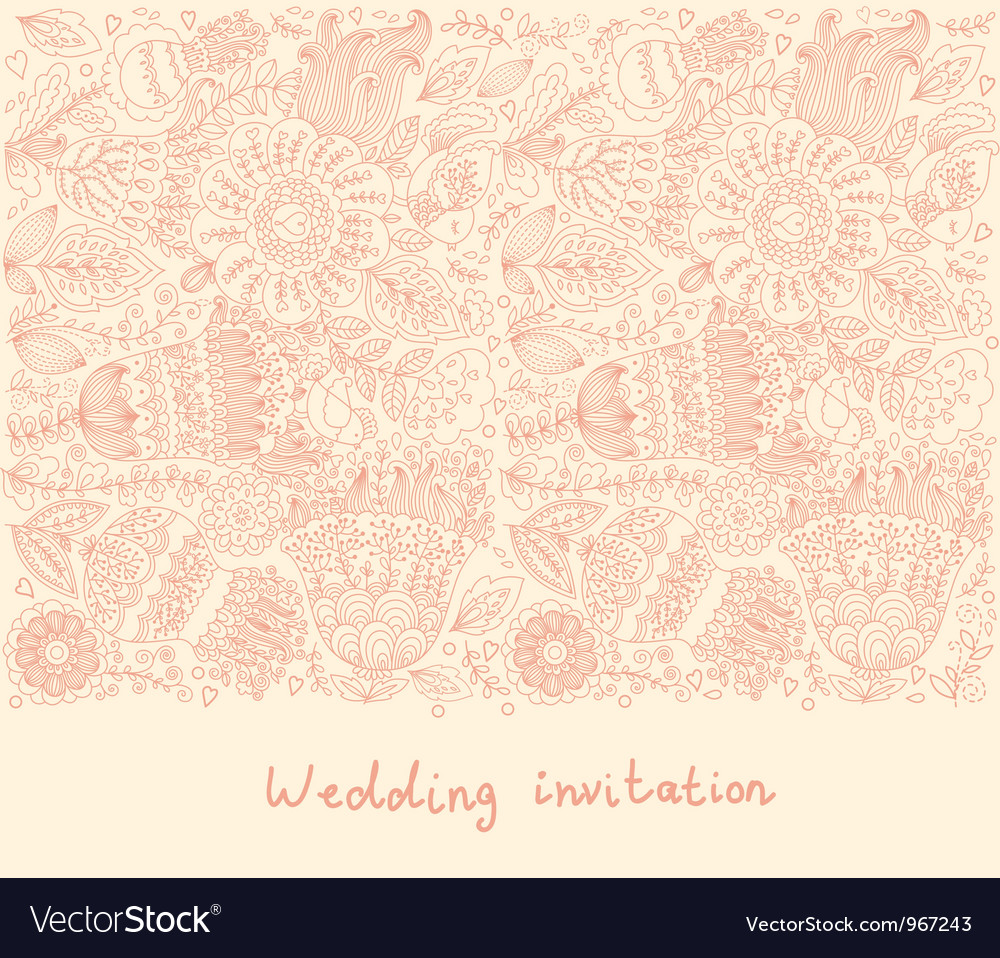 Floral Wedding Inviation