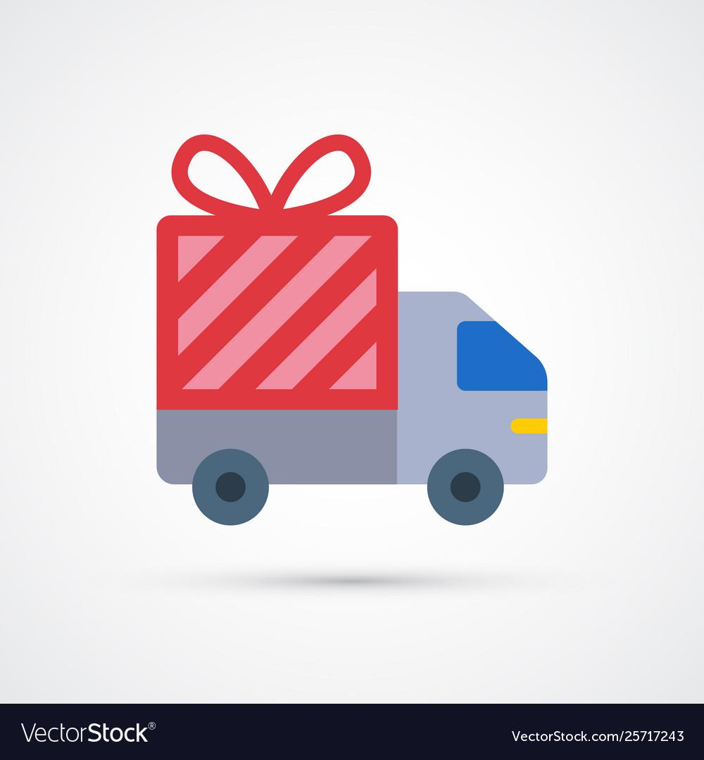 Free delivery trendy symbol