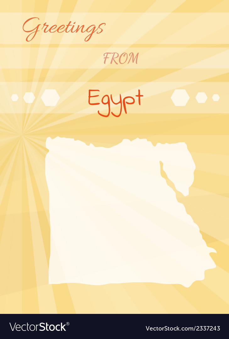 Greetings from egypt vector image
