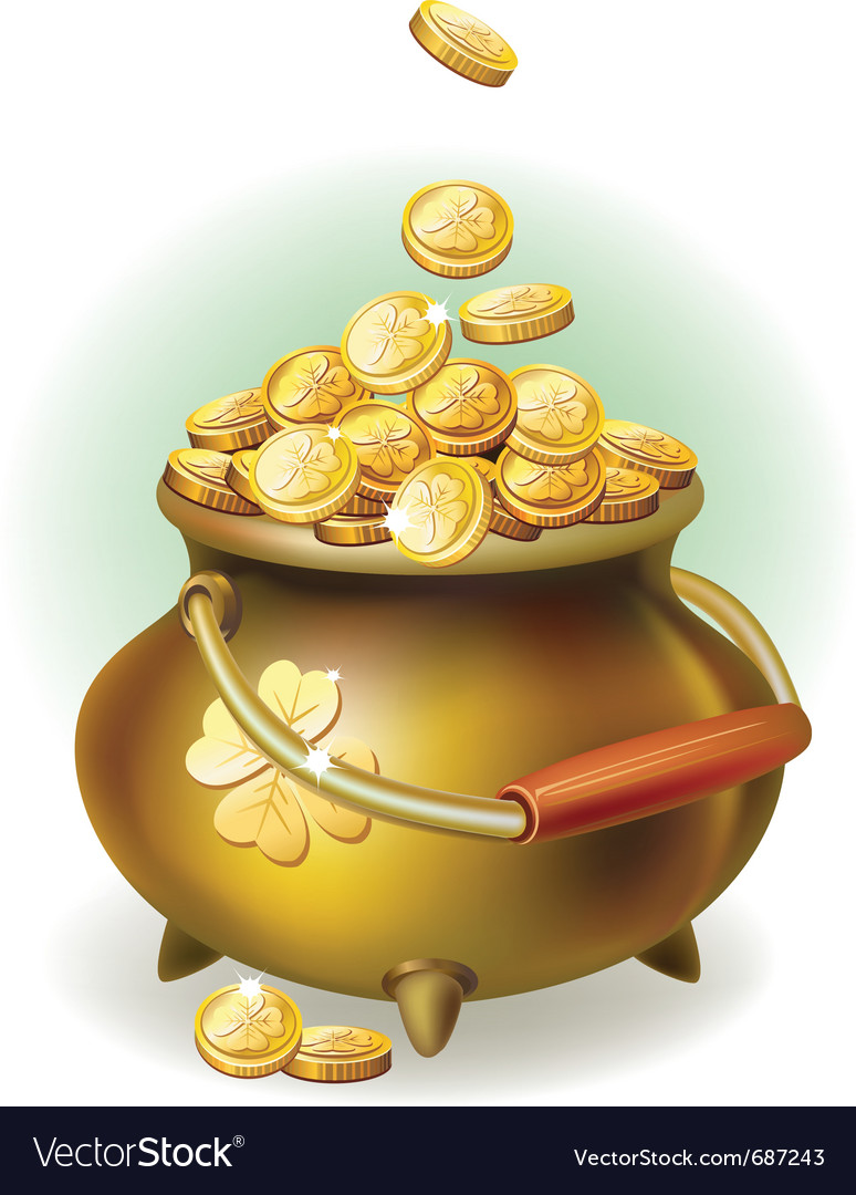 Magic pot vector image