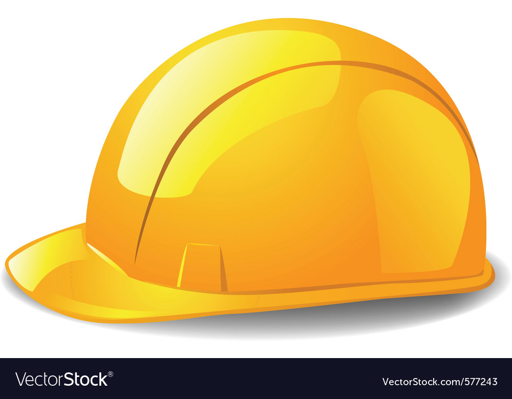 d16f842814e Safety Hard Hat Royalty Vector Image Vectorstock
