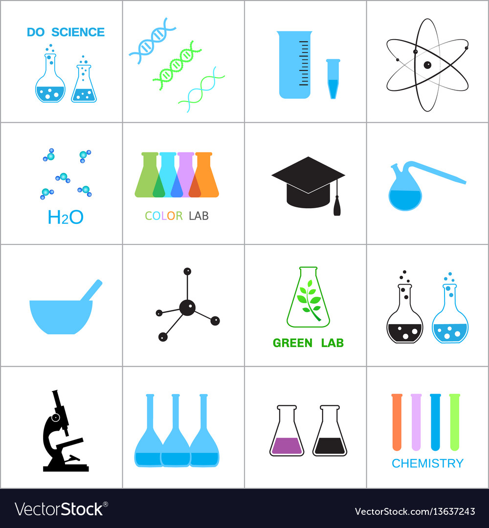 Science and chemistry related icons