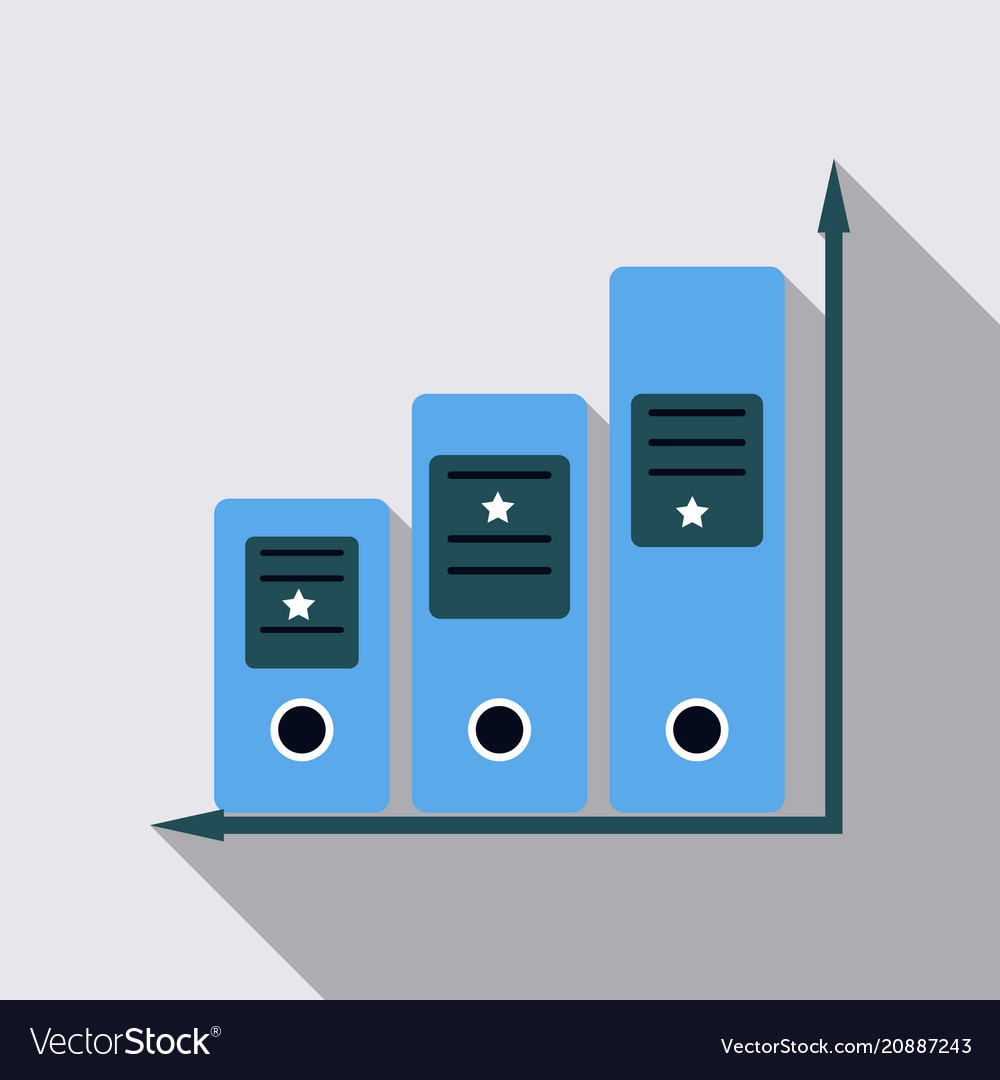 Simple set of folders line icon
