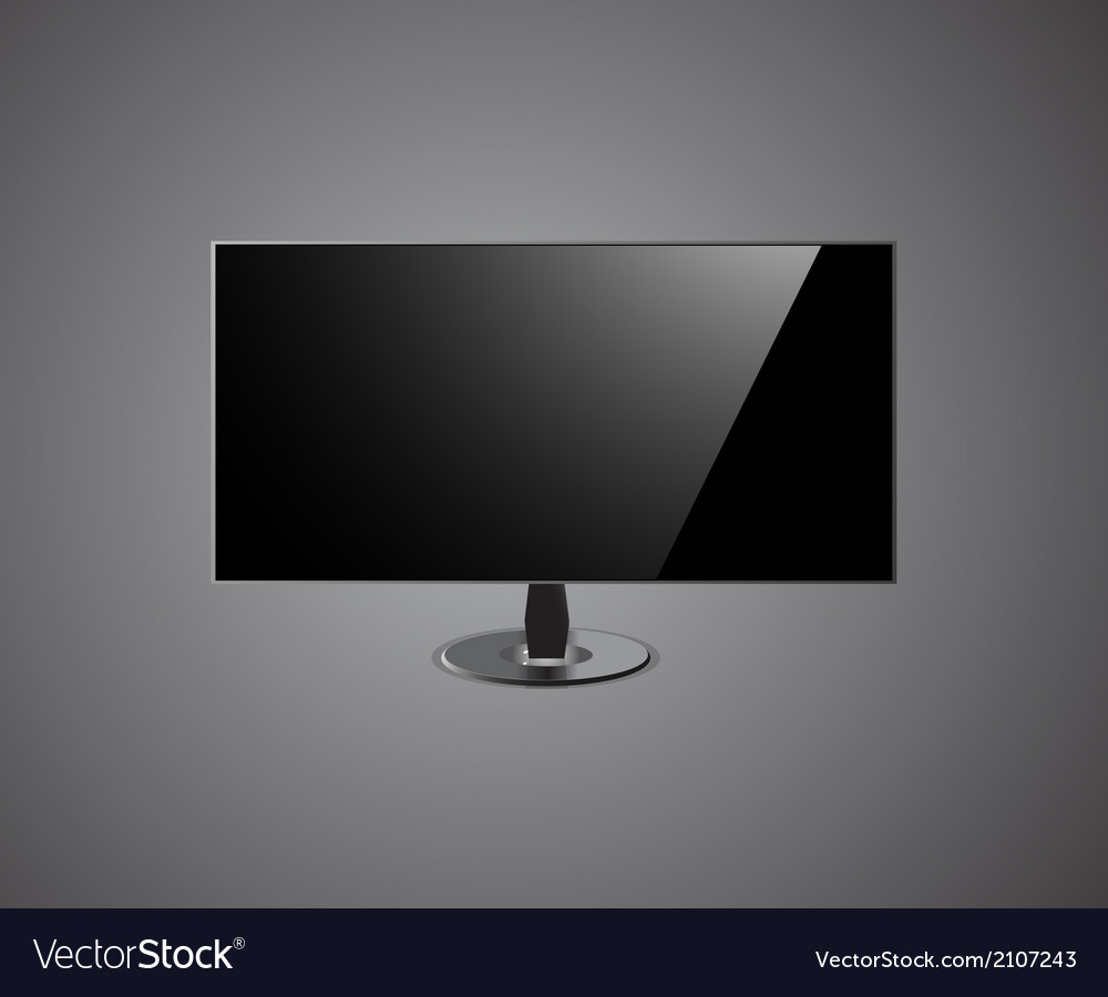 TV Screen hd- Isolated On grey Background