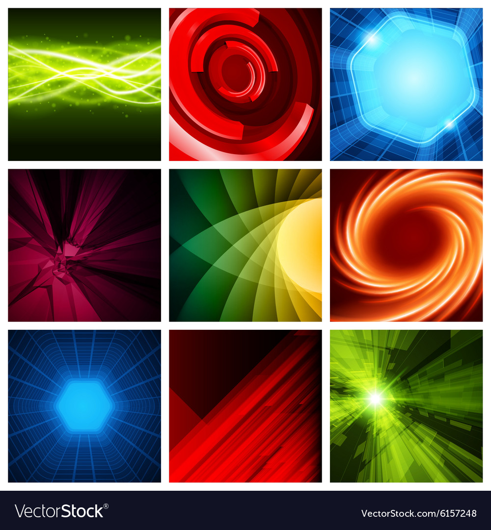 Abstract backgrounds collection modern
