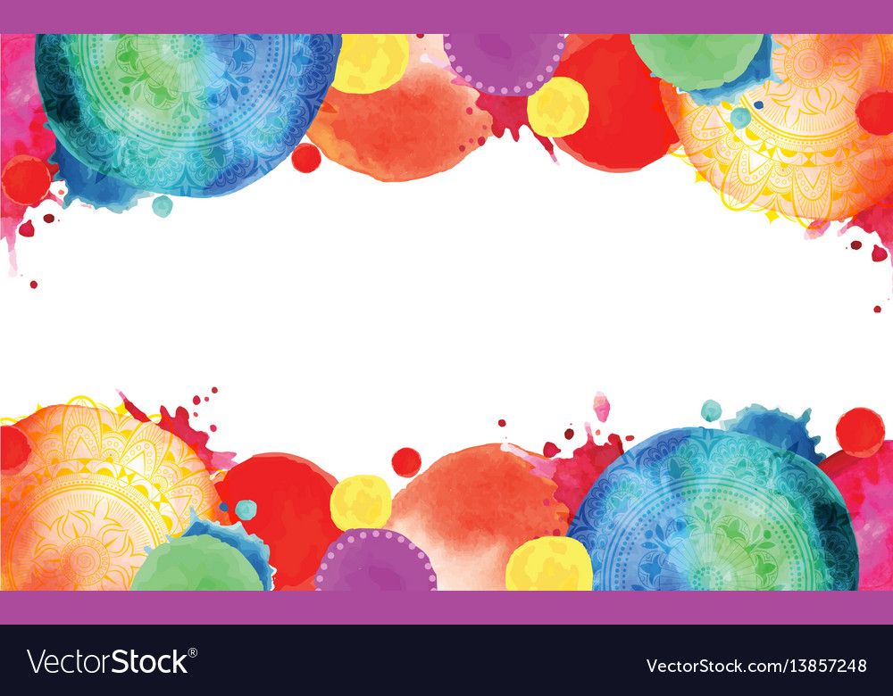 Bright blots frame with circles vector image