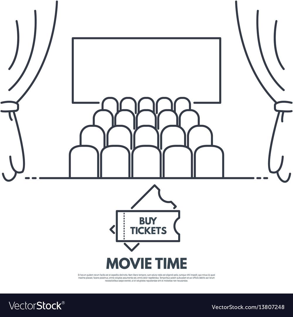 Cinema theatr vector image