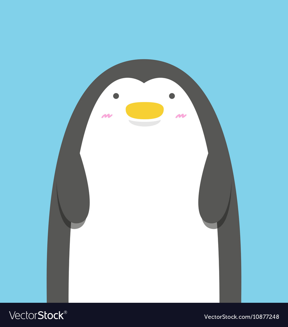 Cute big fat penguin