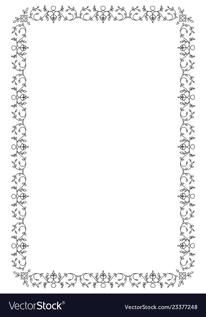 e7a77627526 Ornamental old frame isolated on white background Vector Image