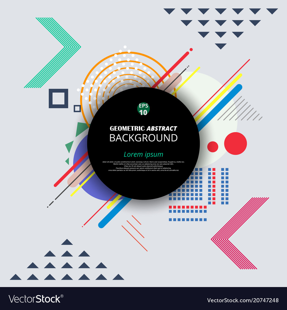 Pattern of geometrical background presenting