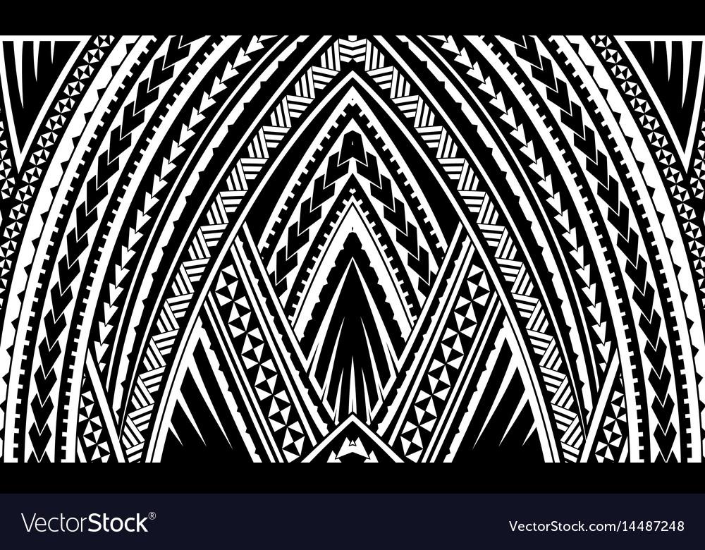 Samoa Tribal Ornament Royalty Free Vector Image