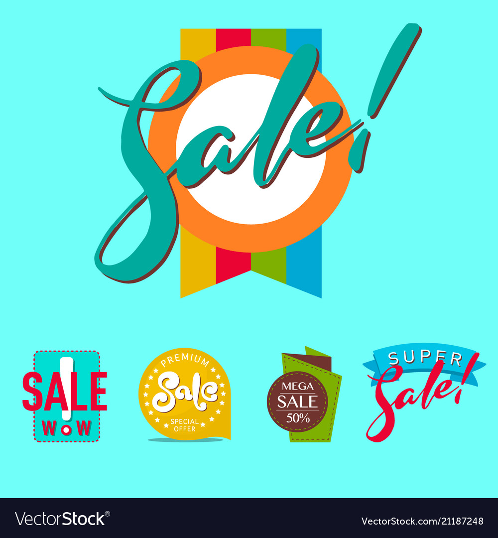 Super sale extra bonus banners text in color drawn